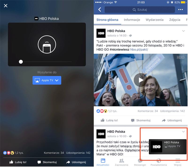 Przeglądanie aktualności w aplikacji, podczas gdy wideo jest wyświetlanie na telewizorze: