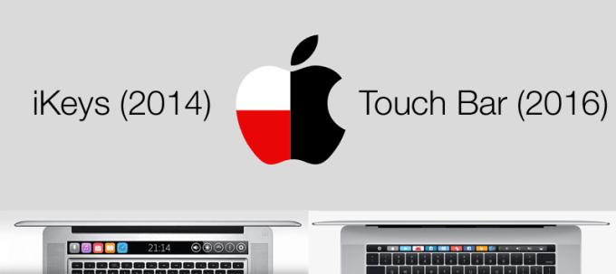 Porównanie iKeys (2014) z Touch Bar (2016) w MacBooku Pro