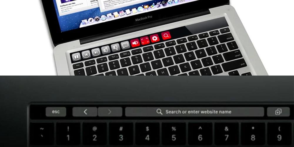 iKeys vs. Touch Bar (specyficzne skróty, np. wyszukiwanie)
