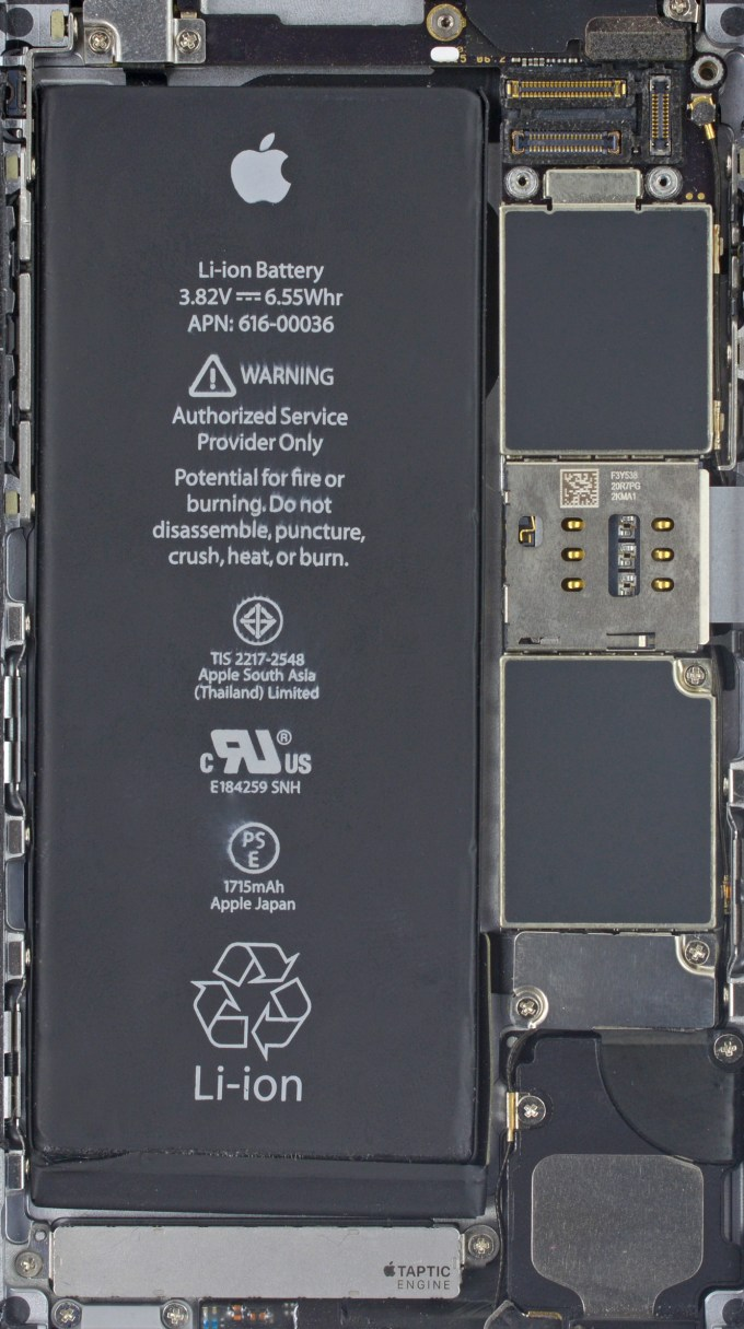 Tapeta iPhone 6s wnętrze smartfona