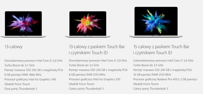 Nowe MacBooki Pro z paskiem Touch Bar i Touch ID