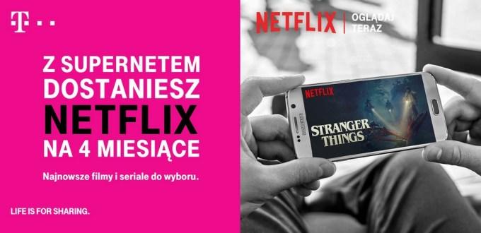 Netflix 4 miesiące za darmo w T-Mobile (Supernet)