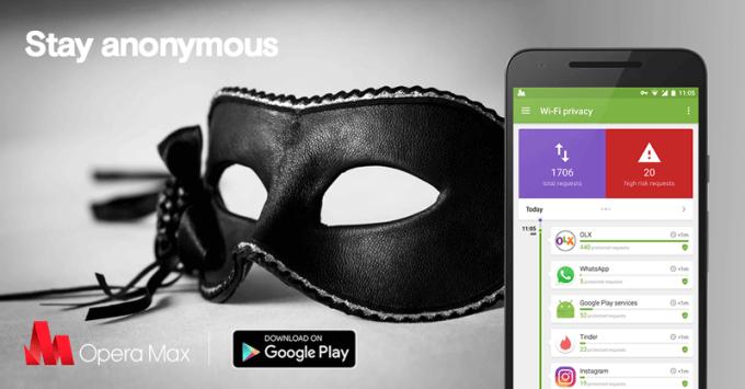 opera Max na Androida - anonimowość na mobile'u