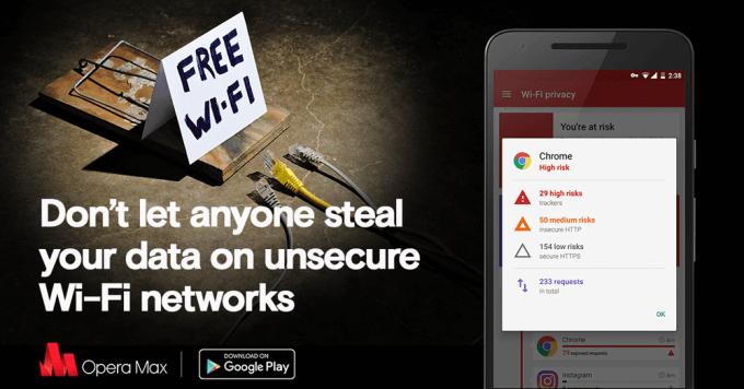 Opera Max - ochrona danych w publicznych sieciach Wi-Fi