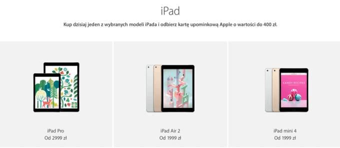 Promocja iPadów z okazji czarnego piątku 2016