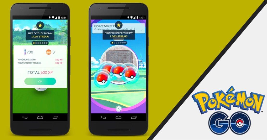 Dzienne bonusy w grze Pokemon GO