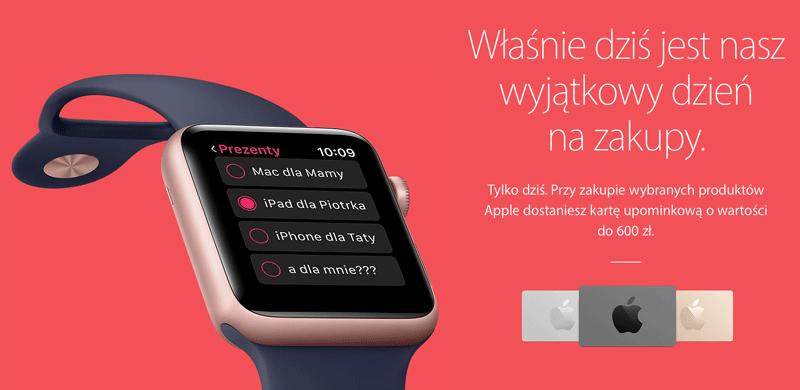 Black Friday (czarny piatek) w sklepie internetowym Apple'a - 25 listopada 2016 r.