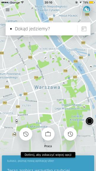 Uber - Dokąd jedziemy?
