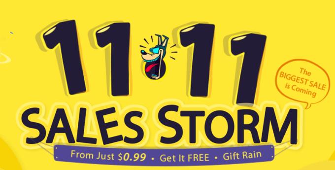 Wyprzedaż Sales Storm 11.11 w sklepie Gearbest