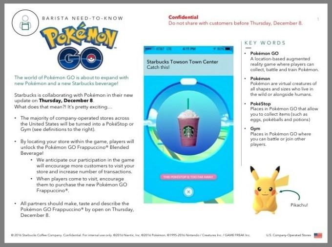 100 nowych pokemonów w grze Pokemon GO do zdobycia w Starbucksie?