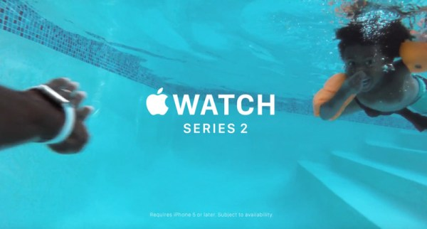 "Reklama zegarka Apple Watch 2 pt. ""Go Swim"""