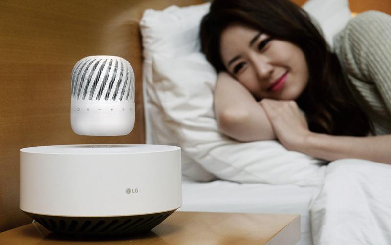 Lewitujący głośnik LG PJ9, który zostanie zaprezentowany na targach CES 2017