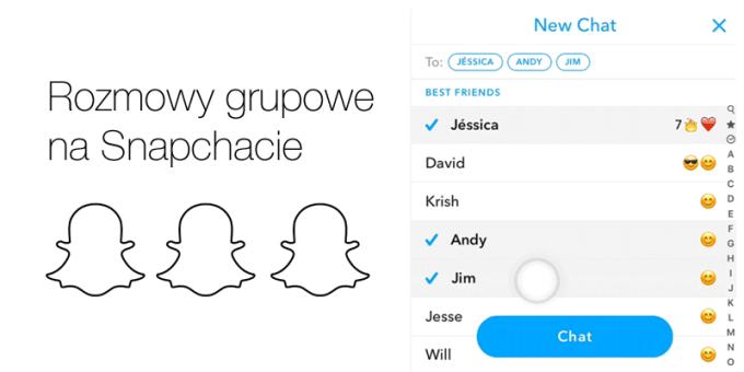 Rozmowy grupowe na Snapchacie