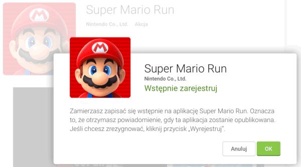 Super Mario Run na Androida już wkrótce