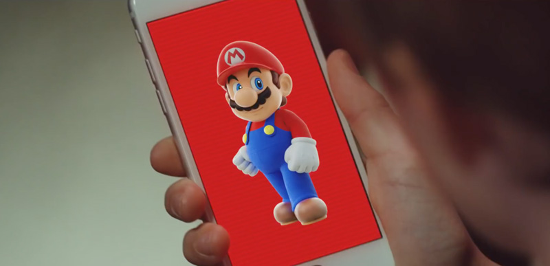 Tapeta na smartfona z Super Mario Run
