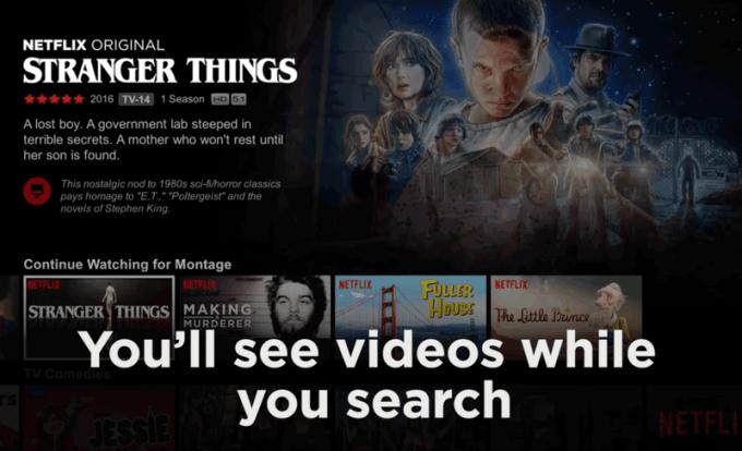 Zapowiedzi wideo w serwisie Netflix