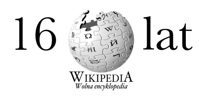 Wikipedia ma 16 lat (15 stycznia 2001 - 2017 r.)