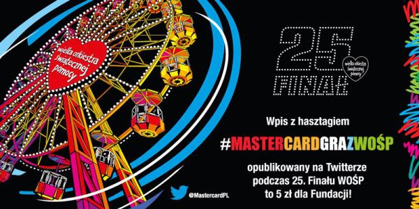 Mastercard Gra z WOŚP: 5 zł za post na Twitterze lub Instagramie