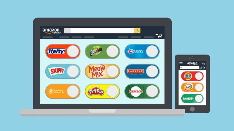 Digital Dash Buttons od Amazona