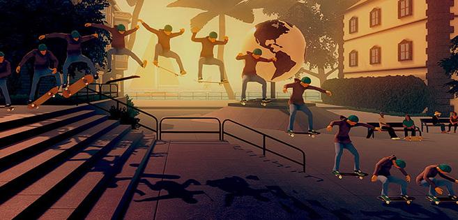 Screen z gry Skate City