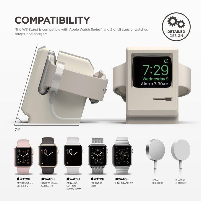 Kompatybilność W3 Stand z Apple Watch 1 i series 2