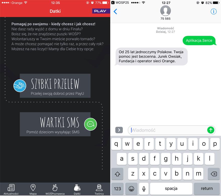 Wesprzyj WOŚP przez aplikację mobilną i SMS-a
