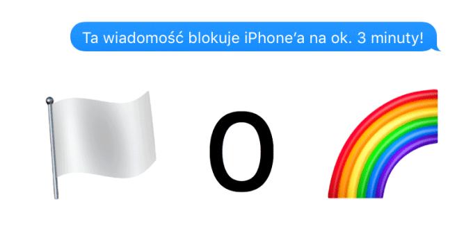 Wiadomość blokująca iPhone'a pod systemem iOS 10.x