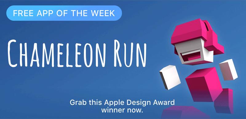 Chameleon Run - Free App of the Week (App Store)