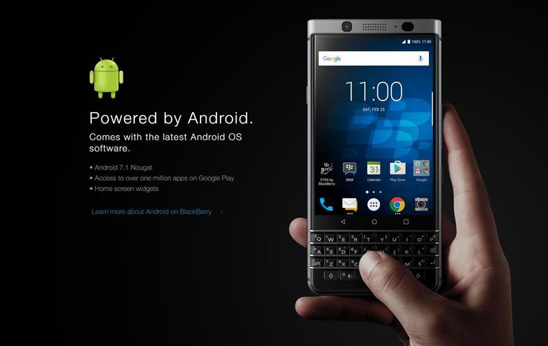 Smartfon BlackBerry KEYone (2Q 2017)