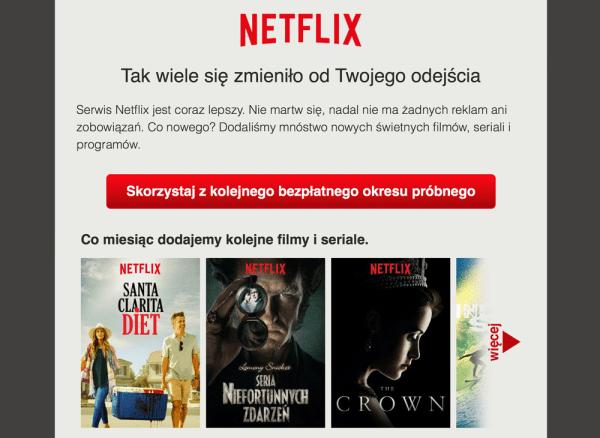 Drugi darmowy okres próbny? Takie rzeczy tylko w Netflixie.