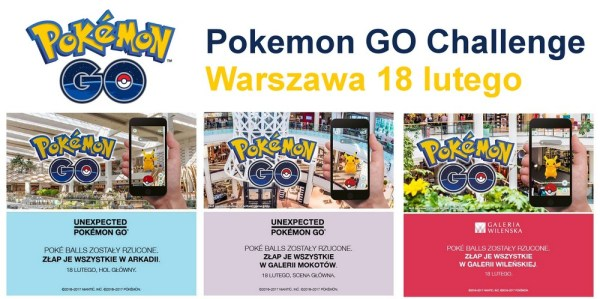 Pokémon GO Live w polskich galeriach handlowych
