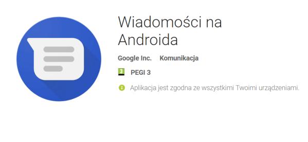 Aplikacja Wiadomości na Androida od Google'a ze wsparciem dla RCS