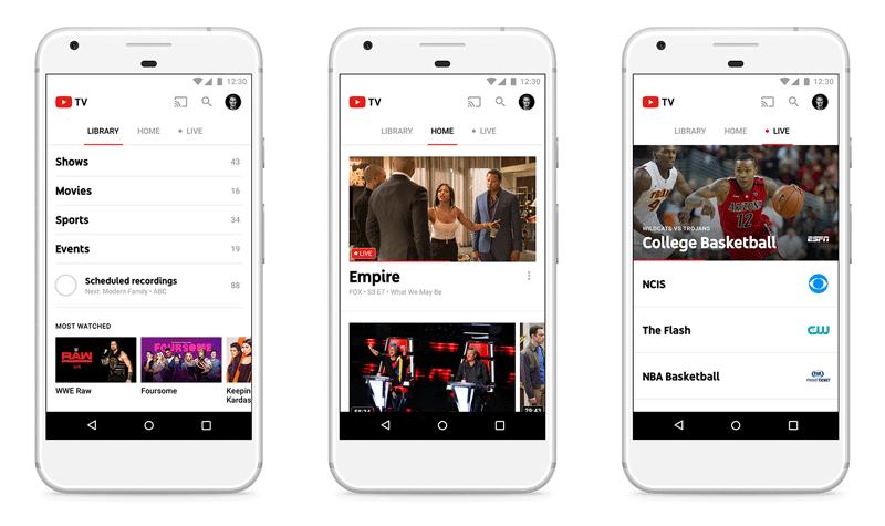 Aplikacja mobilna YouTube TV