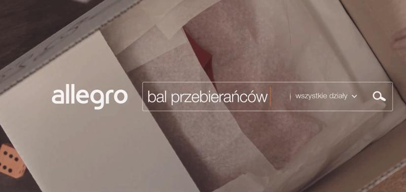 Reklama Allegro pt. Bal przebierańców