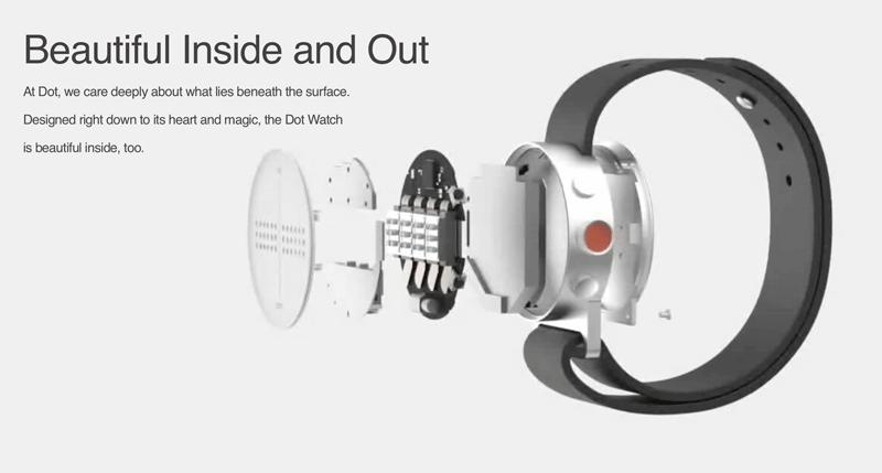 Budowa smartwatcha Dot Watch