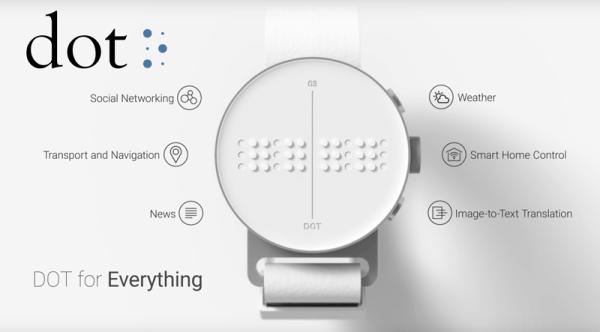 Dot Watch – pierwszy smartwatch dla niewidomych