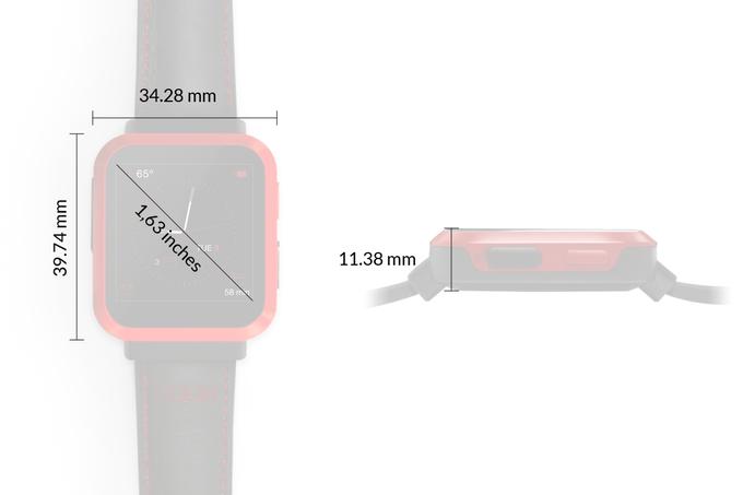 Wymiary smartwatcha Gameband