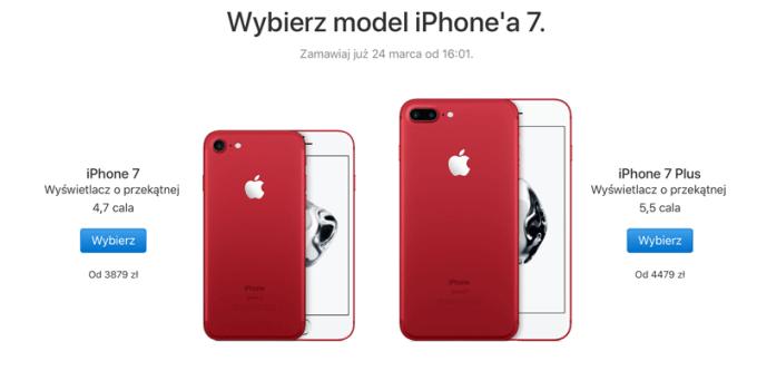 iPhone 7 i 7 Plus w wersji czerwonej