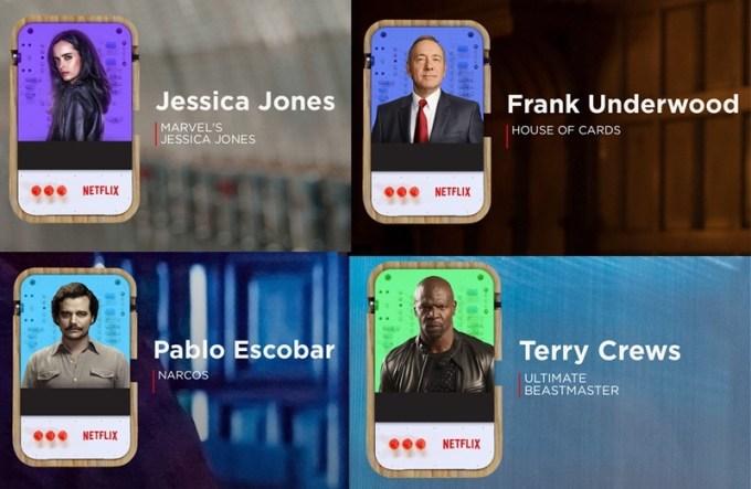 Odgłosy bohaterów seriali w gadżecie Netflixa