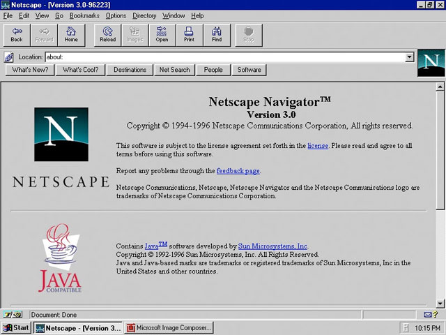 Netscape Browser 3.0 (screen)