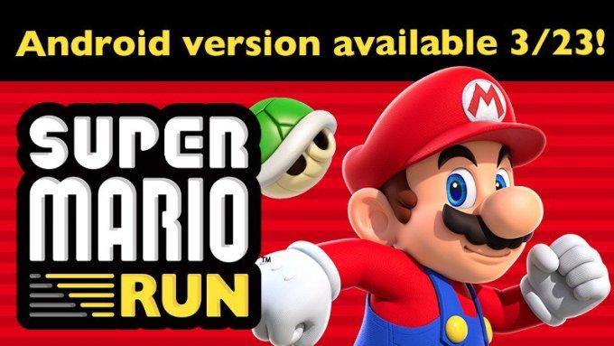 Super Mario Run pojawi sie na Androida 23 marca 2017 r.