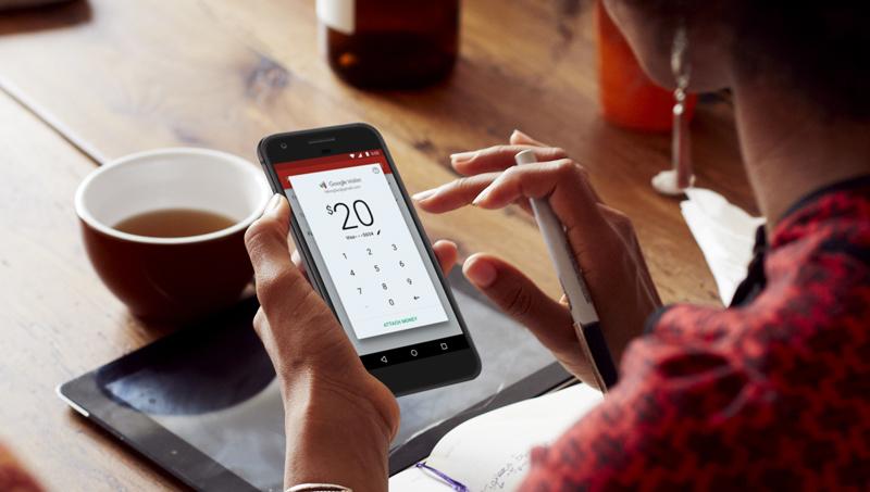Przesyłanie pieniędzy przez e-maila w aplikacji mobilnej Gmail na Androida