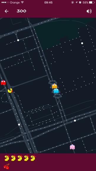 Mrs. Pac-Man w Mapach Google (Warszawa) - screen