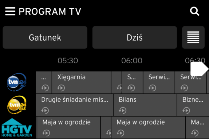 Kanały TVN Replay TV UPC (Horizon GO)