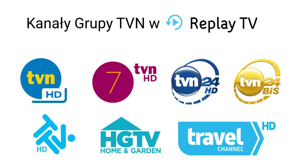 Kanały Grupy TVN w usłudze Replay TV UPC