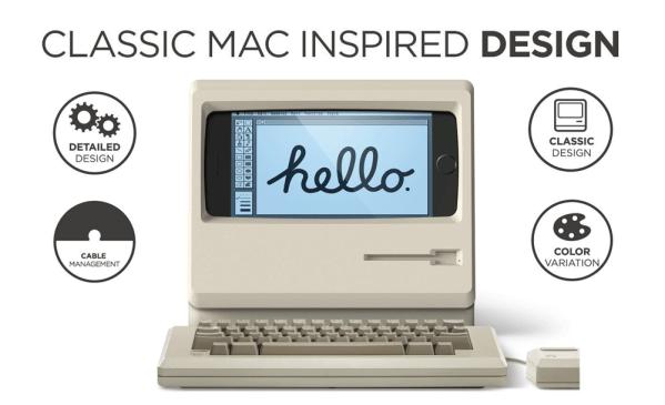 M4 Stand zamieni iPhone'a w retro Macintosha