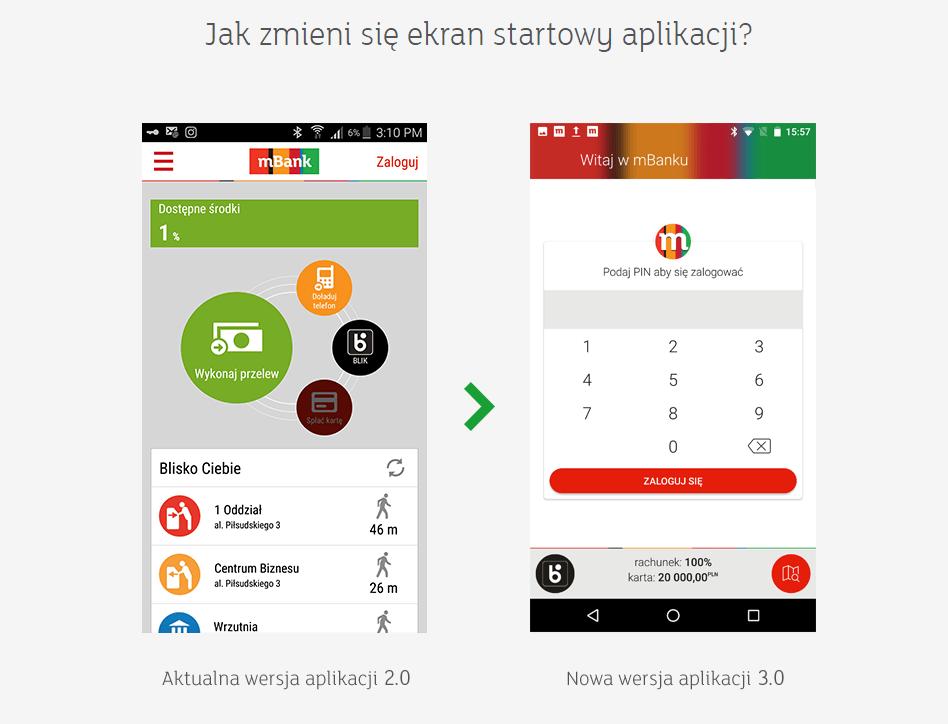 mBank 2.0 vs. mBank 3.0