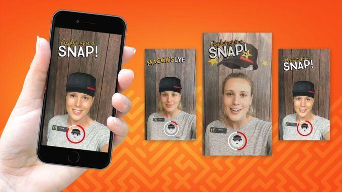 Aplikowanie do McDonalda przez Snapchata