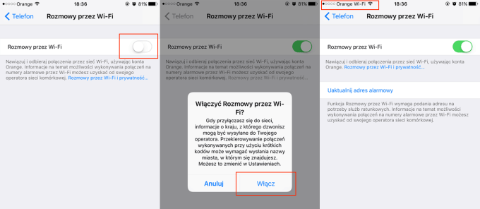 Włączanie Wi-Fi Calling na iPhone'ie
