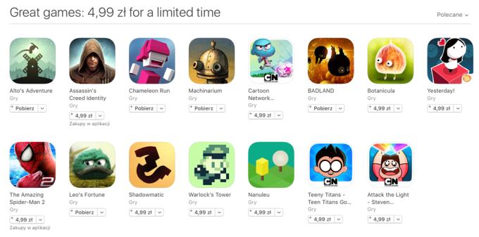Promocja aplikacji na iOS-a za 4,99 zł